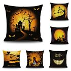 Halloween Sofa Throw Waist Pillow Soft Linen Blend Car Home Cushion Cover Decor