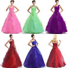 Long Bridesmaid Evening Formal Party Prom Dress Ball Gown Size 6 8 10 12 14 16