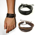 Leather Wrap Bracelet Bangle Braided Rope Multi Layer Jewellery For Men & Women