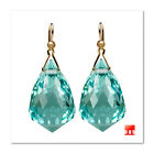 18k 14k Pure Gold NYC Jewelry Studio Diamond Chandelier Prasiolite Earrings 009