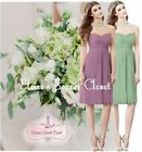 FAYE Knee Length Chiffon Bridesmaid Occasion Strapless Dress Sizes UK SALE!!