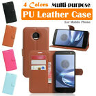 Moto Motorola Z Play Droid Leather Case PSC Cover Skin Card Wallet Stand Folio