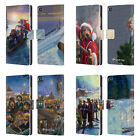OFFICIAL LONELY DOG CHRISTMAS LEATHER BOOK WALLET CASE COVER FOR HUAWEI PHONES