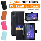 Sony Xperia Z3 L55t Leather Case PSC Multi-purpose Cover Wallet Card Stand Folio
