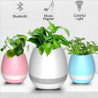 Music Planter Bluetooth Speakers Smart Touch Colorful Light Flower Pot Home Deco