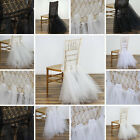 CHAIR SASHES Tulle Tutu with Lace Wedding Bride Reception Party Decorations SALE