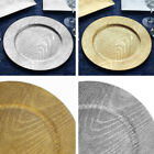 "ROUND CHARGER PLATES 6 pcs 13"" Wood Design Wedding Party Dinner Home Decorations"