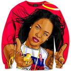 New Fashion Women/Men Aaliyah Funny 3D Print Casual Hoodie Sweatshirt S103
