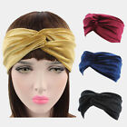 Womens Velvet Twist Knot Headband Stretchy Elastic Head Wrap Turban Hair band