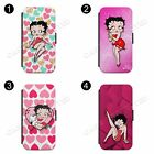 Betty Boop Pink Heart Cartoon Wallet Phone Case Cover For All iPhone $11.03 USD on eBay