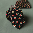 Narrow Skinny Necktie Casual Neck Tie Floral Flower Moderator Party Tie Gift Hot