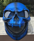 Motorcycle Helmet Skull Monster Death Ghost Rider Shield Full face Visor Blue