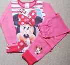 GIRLS PINK MINNIE MOUSE PYJAMAS FROM DISNEY AGE 2-3/3-4 AND 5-6 YEARS BNWT