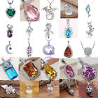 Women Fashion 925 Silver Filled Wedding Charms Pendant For Necklace Jewellery