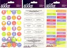 U CHOOSE Sticko Stickers PLANNER LABELS MONTHS APPOINTMENT CALENDAR AGENDA