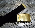 "Genuine British Black RN Trousers Belt 1¼"" Roll Buckle Royal Navy Grade 1"