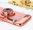 for iPhone 7/8 & 7+/8+ Extra - TPU Rubber 3D CAMERA Case Cover w/ Mirror Lanyard