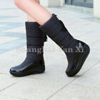 Women Ladies Winter Waterproof Mid Calf Snow Boots Tassels Plaform Warm Fur Shoe