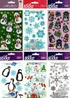 U CHOOSE Sticko Stickers SNOWMAN PENGUINS SNOWFLAKES CHRISTMAS WINTER