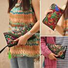 Lady Women's Ethnic Embroider Purse Wallet Clutch Card Coin DZ8801 02