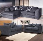 Dylan Fabric Corner Sofa LHF RHF Zina Chenille 3 + 2 Seater Set Swivel Chair