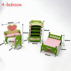 Wooden Furniture Dolls House Family Miniature 6 Room Set Doll Kid Christmas gift