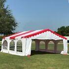 20'x20' Budget PVC Party Tent Canopy Shelter - Red White