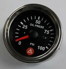 Electronic Oil Pressure Gauge PSI with warning Spin Lock Mounting 52mm 100Chr
