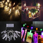 79' 20 LED Novelty Decorative RGB Amber Party Photo Clip Battery String Lights