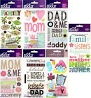 U CHOOSE Sticko Stickers MOM MOTHER DAD FATHER NEW HOME FAMILY SISTER BROTHER