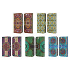 HEAD CASE ARABESQUE PATTERN LEATHER BOOK WALLET CASE FOR APPLE iPHONE PHONES