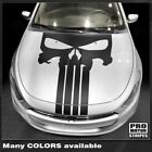 Dodge Dart 2013-2018 Punisher Style Skull Hood Stripes Decals (Choose Color) $54.6 USD on eBay