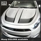 Dodge Dart 2013-2018 Hood Accent Strobe Stripes Decals (Choose Color) $69.0 USD on eBay
