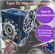 Worm Gearbox Type 50 B14 B14A Any Reduction 14mm 19mm Input Shaft