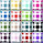 "18"" Geometric Plaid Peach Skin Square Throw Pillow Case Cushion Cover Sanwood"