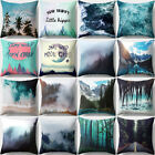 Throw Pillow Case Mountains Sea Forest Scenery Peach Skin Cushion Cover Sanwood