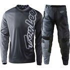 NEW 2017 TROY LEE DESIGNS GP 50/50 MOTOCROSS DIRT GEAR COMBO CHARCOAL SIZE 38/XX