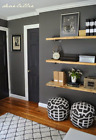 Charcoal Hallway Wallpaper - Thick Washable Vinyl - Paste The Wall - 51115309
