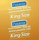 Pasante Condoms – Femidom Delay King size Naturelle XL XXL Flavoured Ribbed Trim