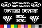 307 CI V8 POWERED 10 DECAL SET SBC ENGINE STICKERS EMBLEMS FENDER BADGE DECALS