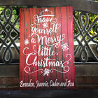 Christmas Decor, Merry Little Christmas Custom CANVAS, Personalized Decor/Gift