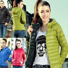 Winter Women's Short Coat Fashion Hooded Down Coat Jacket Warm Outwear Parka Top