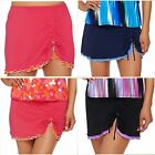 Denim & Co. Beach Ruffled Ruched Detail Swimsuit Skirt ONLY~A275174