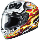 ghost rider 2 motorcycle - HJC FG-17 Ghost Rider Red/Yellow/White/Black Full Face Motorcycle Helmet Snell