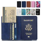 Внешний вид - RFID Blocking Leather Passport Holder ID Case Credit Card Wallet Men / Women's