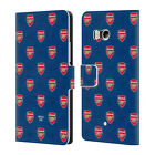 CUSTOMISED ARSENAL FC 2017/18 CREST AND LOGO LEATHER BOOK CASE FOR HTC PHONES 1