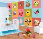 Photo Wallpaper HAPPY OWLS BIRDS NURSERY DECORATIVE HUGE Wall Mural (1035VE)