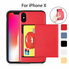 Shockproof Hybrid Card Wallet Hard Back Phone Case Cover Skin for Apple iPhone X