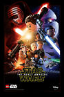 LEGO FORCE AWAKENS LEGO Star Wars MOVIE POSTER CHOOSE SIZE $89.99 AUD