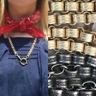 """Repro Victorian book chain collar necklace choker 16- 24"""" Antique gold or silver"""